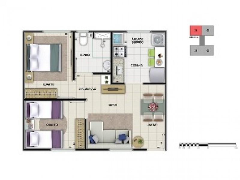 Apartamento 2 dormitórios em Contagem